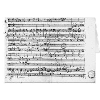 Trio, de E no major 'Kegelstatt horizontalmente Cartão Comemorativo