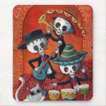 Trio do Mariachi de Diâmetro de Los Muertos Mouse Pad