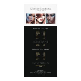 Trio moderno da foto para maquilhadores, 10.16 x 22.86cm panfleto
