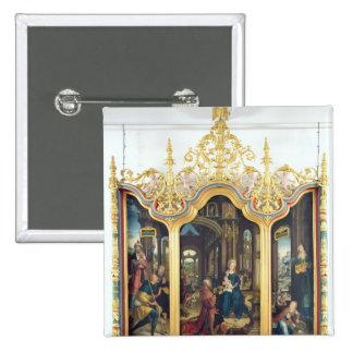Triptych da adoração do cristo infantil boton