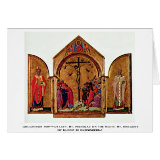 Triptych da crucificação deixado: São Nicolau Cartão
