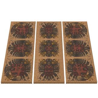 Triptych tribal do Weave Impressão Em Tela