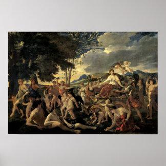 Triumph da flora, c.1627-28 pôster