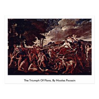 Triumph da flora, por Nicolas Poussin Cartão Postal