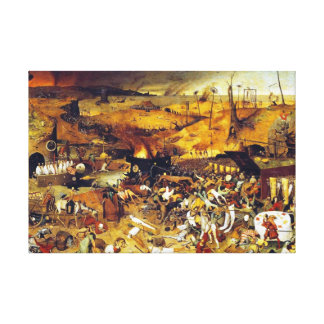 Triumph da morte por Pieter Bruegel Impressão De Canvas Esticada