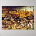 Triumph da morte (por Pieter Bruegel) Pôster