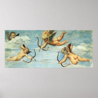 Triumph de Galatea, detalhe dos anjos por Raphael Pôster