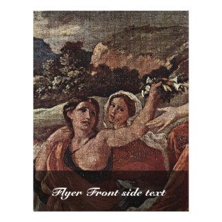 Triumph do detalhe da flora por Poussin Nicolas Panfleto Personalizados