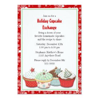 Troca do cupcake do feriado convite personalizados