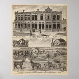Troca National Bank das penas, Kansas Poster