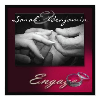 Trocando anéis com as alianças de casamento convite quadrado 13.35 x 13.35cm