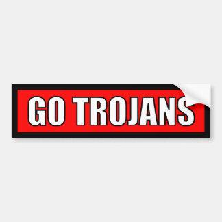Trojan - etiqueta branca vermelha preta adesivos