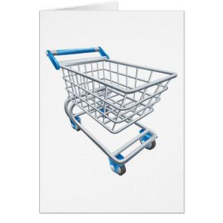 Trole do carrinho de compras do supermercado cartao