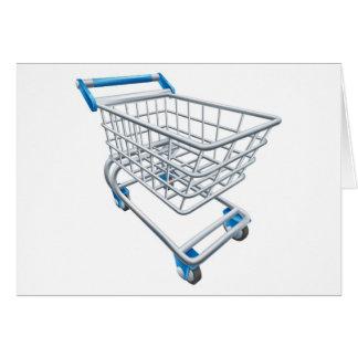 Trole do carrinho de compras do supermercado cartão