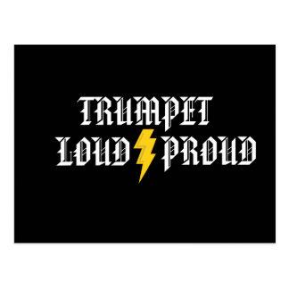 Trombeta:  Cartão alto e orgulhoso