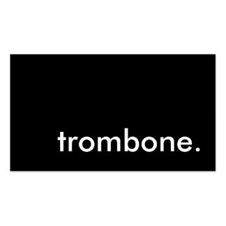 trombone. cartao de visita