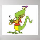 trombone jazzístico que joga desenhos animados do  posteres