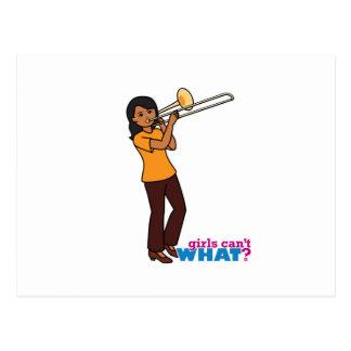 Trombone-jogador 1 cartão postal