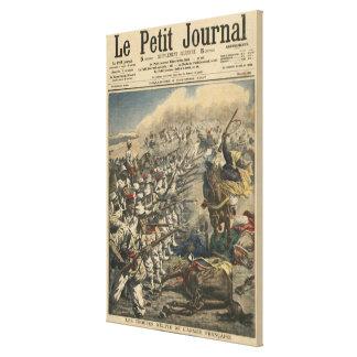 Tropas do exército francês, franceses da elite est impressão de canvas esticada