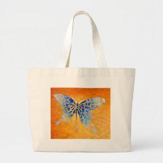 Tropenillo V1 - a borboleta azul Bolsa Tote Grande