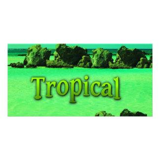 TROPICAL CARTÃO COM FOTO