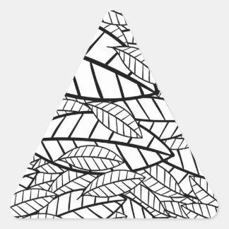 tropical grande adesivo triangular