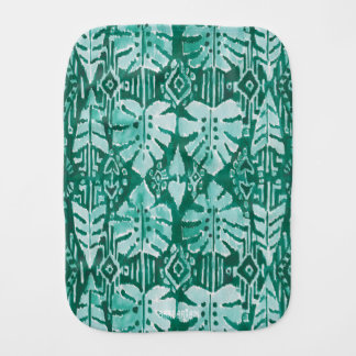Tropical tribal verde havaiano da SELVA IKAT Paninhos Para Bebês