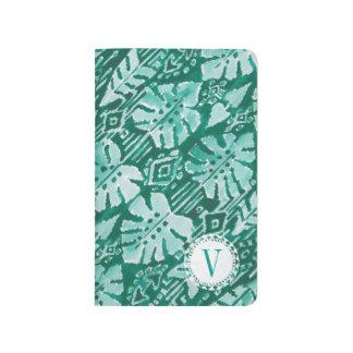 Tropical verde havaiano da SELVA IKAT do monograma Diário