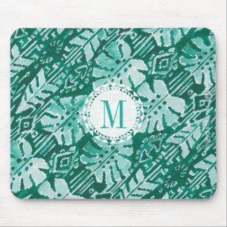 Tropical verde havaiano da SELVA IKAT do monograma Mousepad