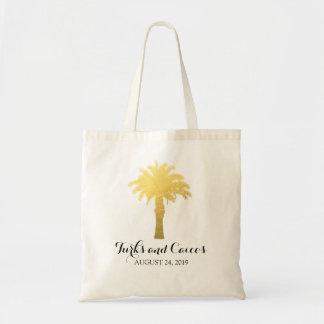 Trópicos da palmeira   que Wedding Sacola Tote Budget