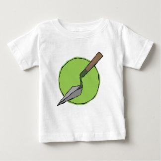 Trowel verde camiseta para bebê