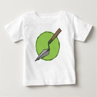Trowel verde - o conjunto de ferramentas do camiseta para bebê