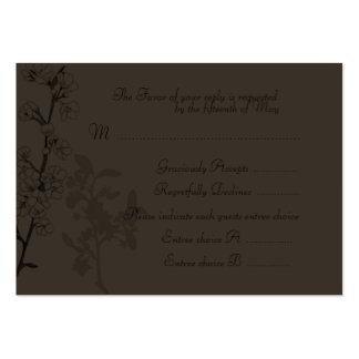 Trufa (cartão da resposta do casamento) cartão de visita grande