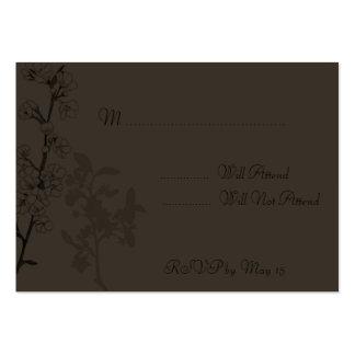 Trufa (cartão de RSVP) Cartão De Visita Grande