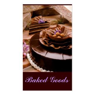 Trufa do bolo do padeiro cartão de visita