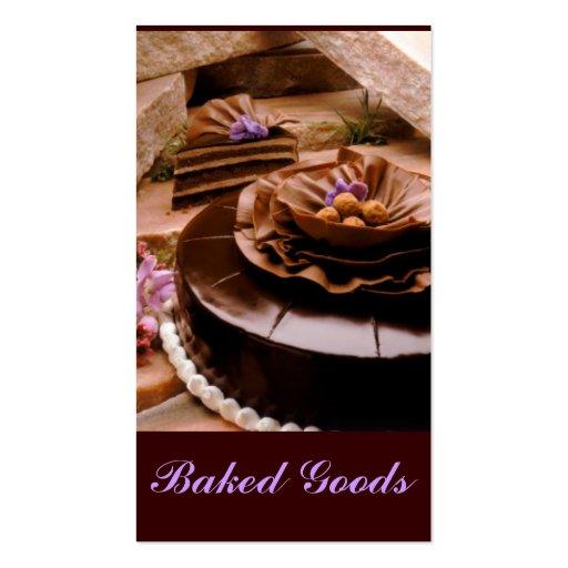 Trufa do bolo do padeiro modelo cartão de visita