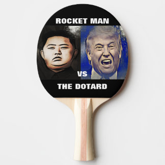 Trunfo contra a pá de Pong do sibilo do Un de Kim Raquete De Tênis De Mesa