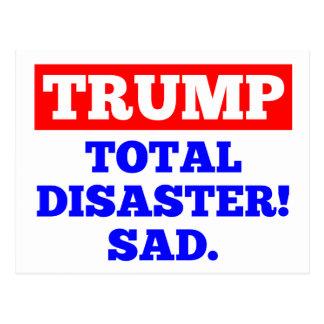 TRUNFO = desastre total! Triste. Cartão branco