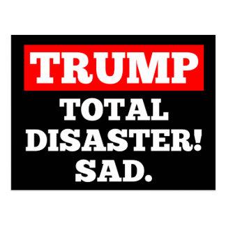 TRUNFO = desastre total! Triste. Cartão preto