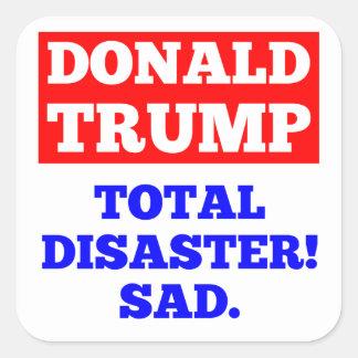 TRUNFO = desastre total! Triste. Etiqueta branca