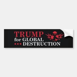 Trunfo para a destruição global adesivo para carro