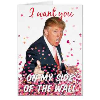Trunfo romântico cartão comemorativo