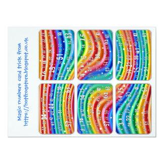 Truque de cartão dos números mágicos dos gráficos