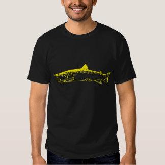 truta amarela camisetas