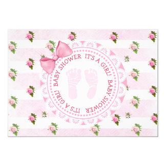 Ts florais cor-de-rosa dos rosas um convite do chá