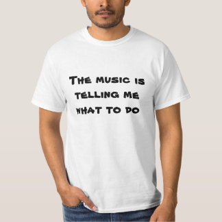 tshirt - a música camiseta