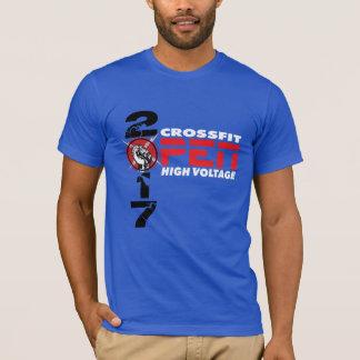 Tshirt aberto dos homens da alta tensão 2017 de camiseta