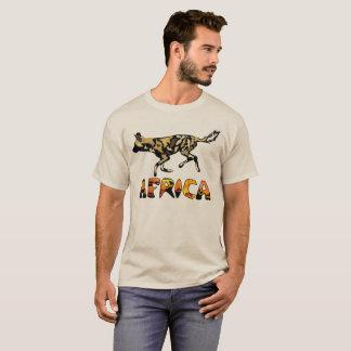 Tshirt africano do cão selvagem do safari camiseta