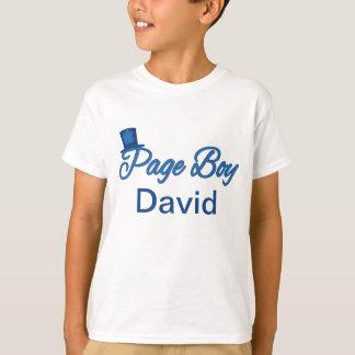 Tshirt bonito do menino da página a personalizar camiseta