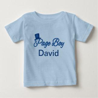 Tshirt bonito do menino da página a personalizar camiseta para bebê
